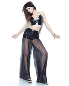 Darque Mesh Wide Leg Pant w/Built In Booty Short