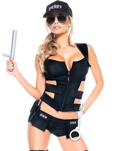 Be Wicked Sexy Sheriff 7-Piece Costume