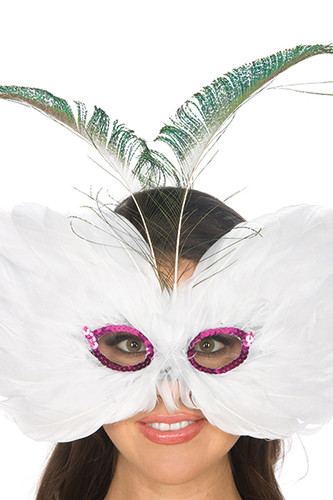 Be Wicked Feather Mask BWSM007