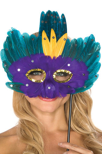 Be Wicked Feather Mask BWSM005
