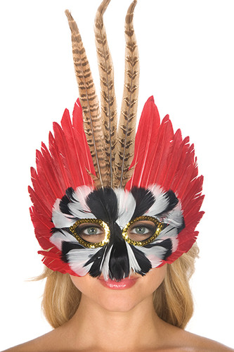 Be Wicked Feather Mask BWSM002