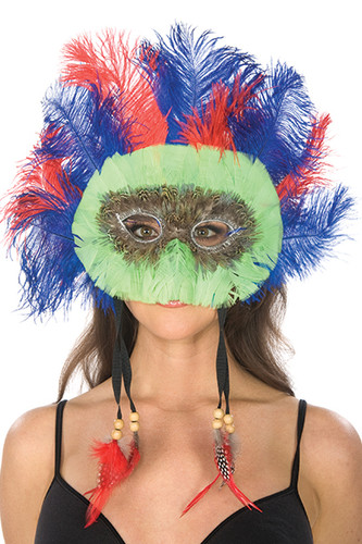 Be Wicked Feather Mask BW97010