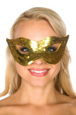 Be Wicked Gold Sequin Mask BW7265