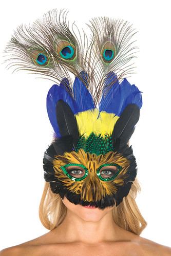 Be Wicked Feather Mask BW6749