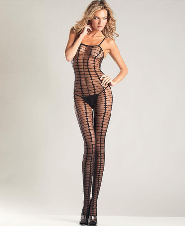 Be Wicked Sheer Crochet Bodystocking