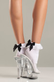 Be Wicked Ruffle-top and Satin Bow Anklets