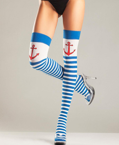 Be Wicked Anchors Away Thigh Highs