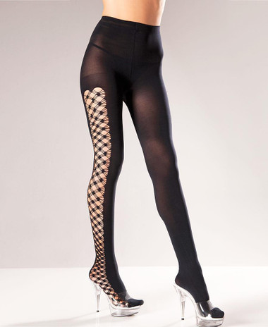 Be Wicked Fence Net Sides Pantyhose