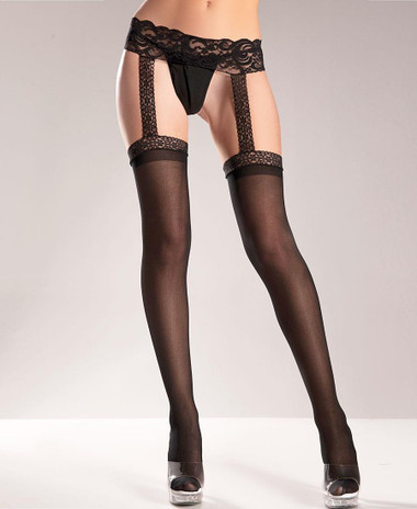 Be Wicked Garter Belt Stockings