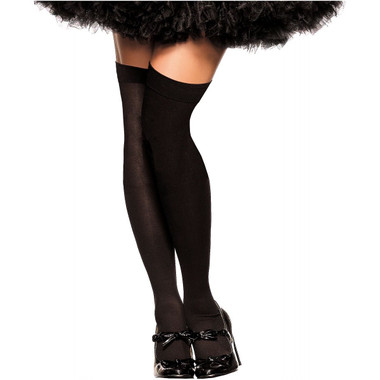 Be Wicked Opaque Thigh Highs - Black