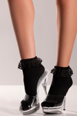 Be Wicked Ankle Socks - Black
