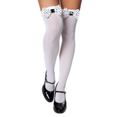 Roma Costume Thigh High Stocking with Polka Dot Bows