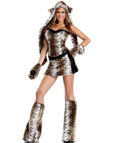 Be Wicked Temptuous Tiger 6-Piece Costume