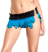 Be Wicked Feather Skirt - Turquoise