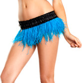 Be Wicked Turquoise Ostrich Feather Skirt