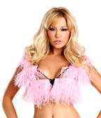 Be Wicked Candy Pink Ostrich Feather Top