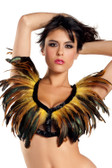 Be Wicked Exotic Feathers- Feather Top - Yellow