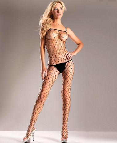 Be Wicked Big Diamond Net Bodystocking