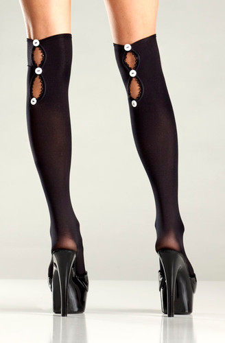 Be Wicked Button Up Back Knee Highs