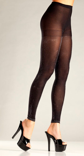 Be Wicked Black and Silver Pantyhose