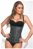 Ann Chery Latex Corset Girdle Body Shaper - Black