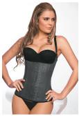 Ann Chery Latex Corset Girdle Body Shaper - Black