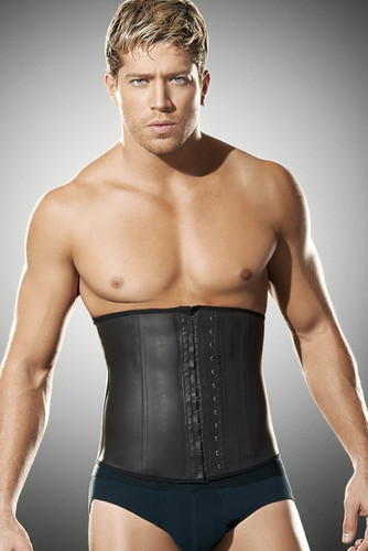 Ann Chery Latex Men Girdle Body Shaper - Black