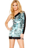 Roma Costume Single Sleeve Dress with Sequin Paneling