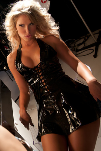 Allure Lingerie Leather Lace Up Vinyl Dress