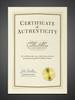 Custom certificate of authenticity.