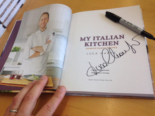My Italian Kitchen Autographed by Luca Manfe ...
