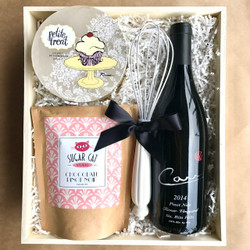 Chocolate Pinot Noir Boozy Baking Box