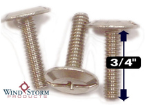 "1/4-20 x 3/4"" Combo Sidewalk Bolts - Contractor Pack [100 per pack]"