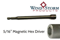 "5/16"" x 6"" Hex Magnetic Nutsetter for setting Tapcons"