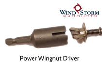 Power Wingnut Driver for Installing and Removing Wingnuts