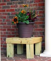 wooden plant stand, wooden rain barrel stand, chesapeake rain barrel stand