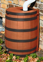 50 Gallon Flat Back - Good Ideas Rain Barrel - T. COTTA w/ Ribs