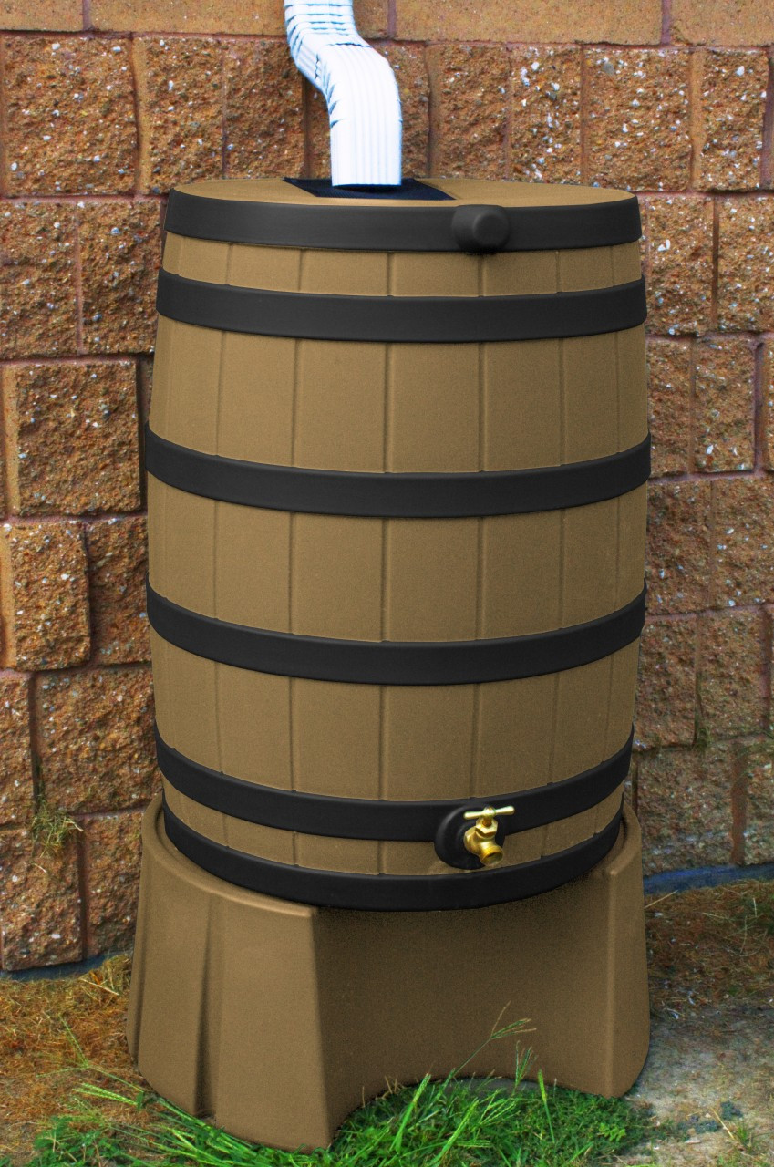 Good Ideas Khaki Rain Barrel With Stand