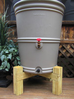 rain barrel stand, wooden rain barrel stand, Hamptons Rain Barrel Stand