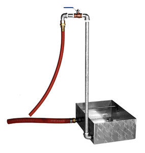 Stainless Steel Waterpan w/ Flow Drain