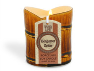 Bamboo Porcelain Soy Candle - Bergamot & Cedar 7.8 oz.