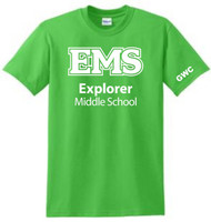 EXPLORER ADULT LIME GWC  T-SHIRT (S-3X)