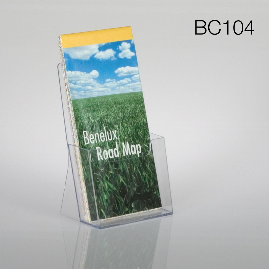 clear tri-fold countertop brochure holder