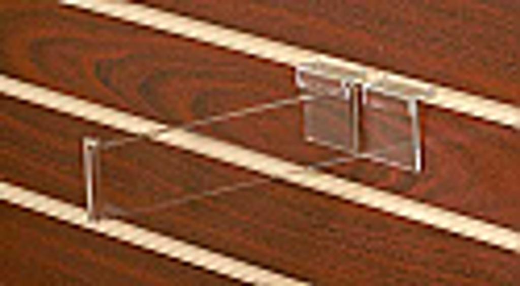 Clear Acrylic Slatwall Hook #8570