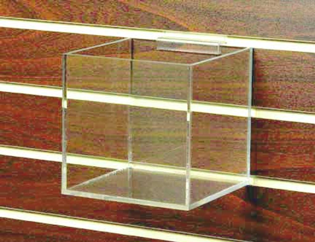 "6"" Clear Acrylic Cube for Slatwall #8711sw"
