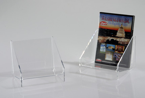 This clear acrylic countertop display is perfect for DVDs, books, or boxed cards.