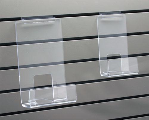 clear acrylic face out bookshelf for slatwall