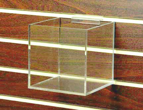 "6"" Clear Acrylic Cube for Slatwall #8711sw"