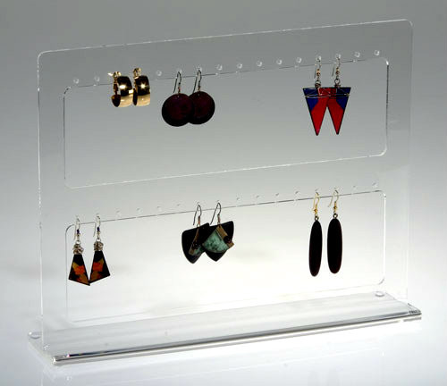 Clear acrylic mutliple earring display stand