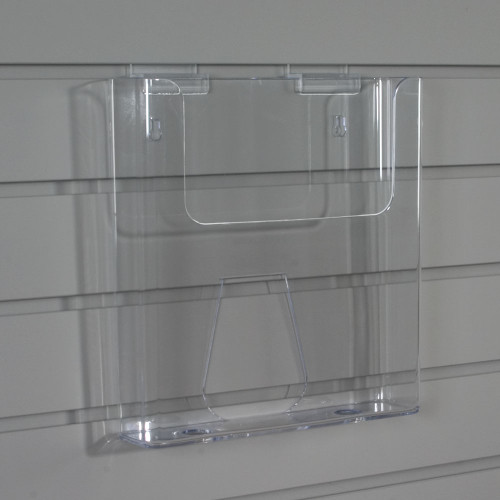 Clear Acrylic Holder for Brochures, Magazines, and Flyers, Slatwall